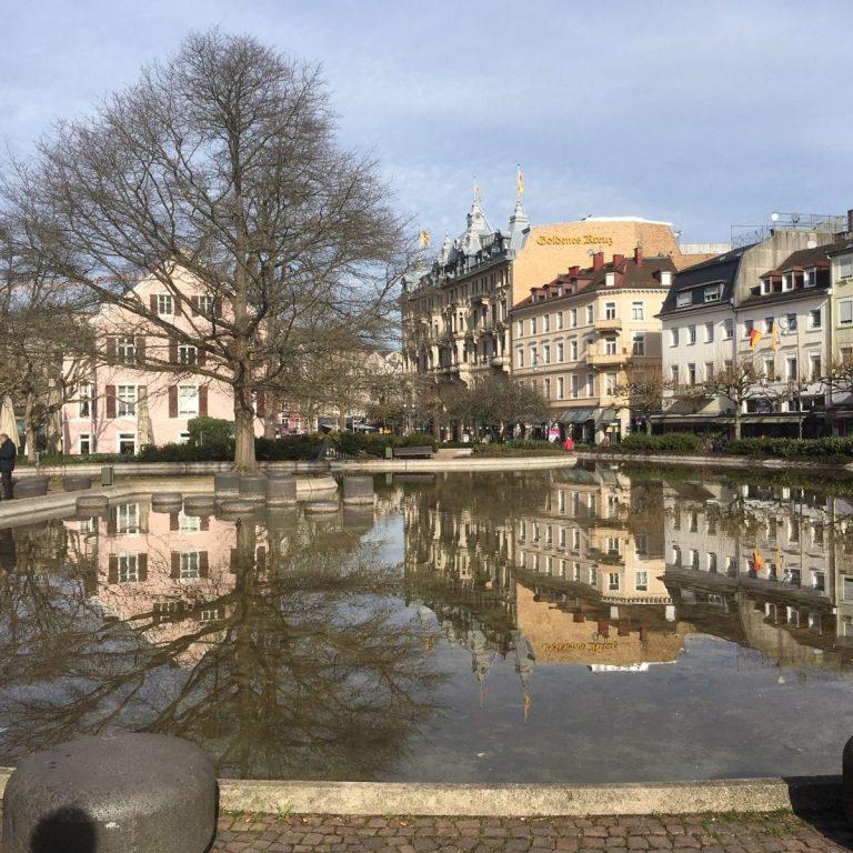 Augustaplatz, Wasserspiele und Tiefgarage